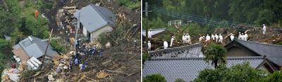 LLUVIAS SIN PRECEDENTES CAUSAN DESLIZAMIENTOS DE TIERRA EN JAPON Japan