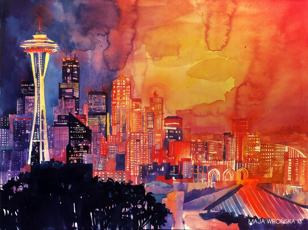 25-Seattle-Maja-Wronska-Travels-Architecture-Paintings-www-designstack-co