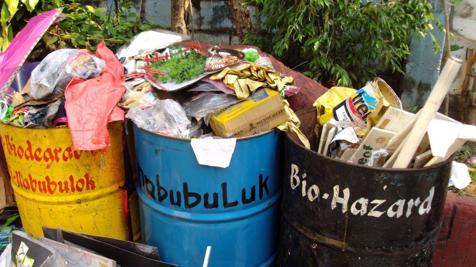 causes of destruction due to improper waste disposal