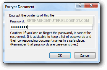 memberi password file power point