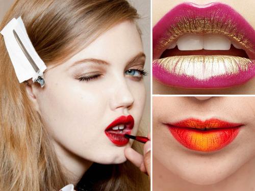 Contoh Gaya Make Up Lipstik Ombre Terbaru Banget