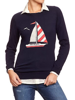 Old Navy sailboat sweater
