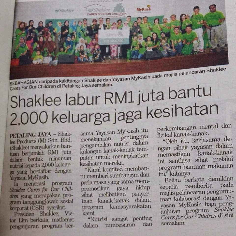 Shaklee Cares for Our Children