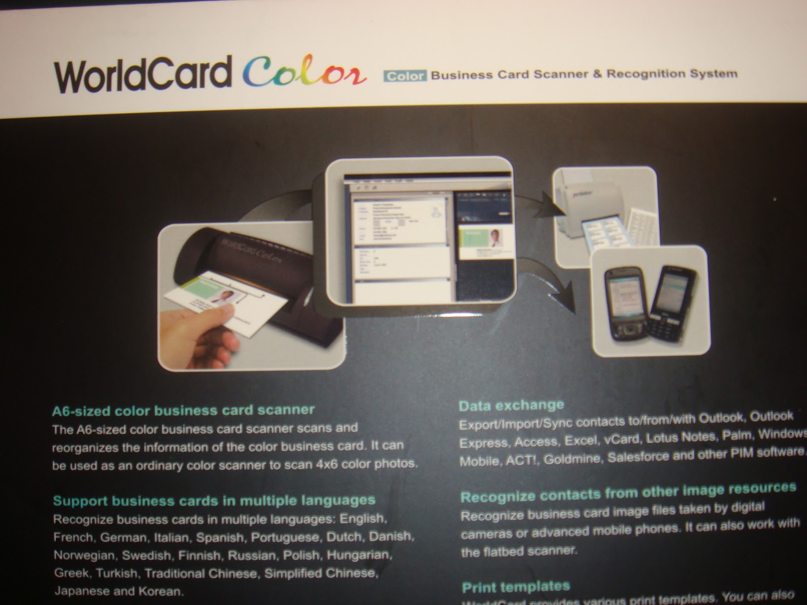 PC Parts and Accessories: Penpower Worldcard Business Card Scanner