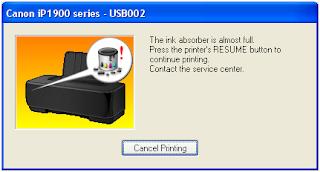memasang Pembuangan Printer Canon