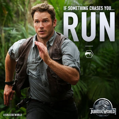 Viral image of Chris Pratt from Jurassic World
