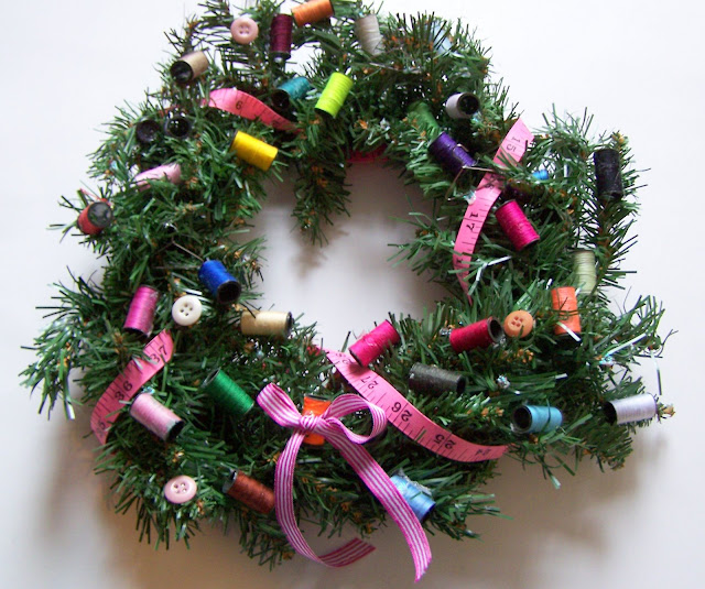 Wednesday Sewing – A Sewing Wreath