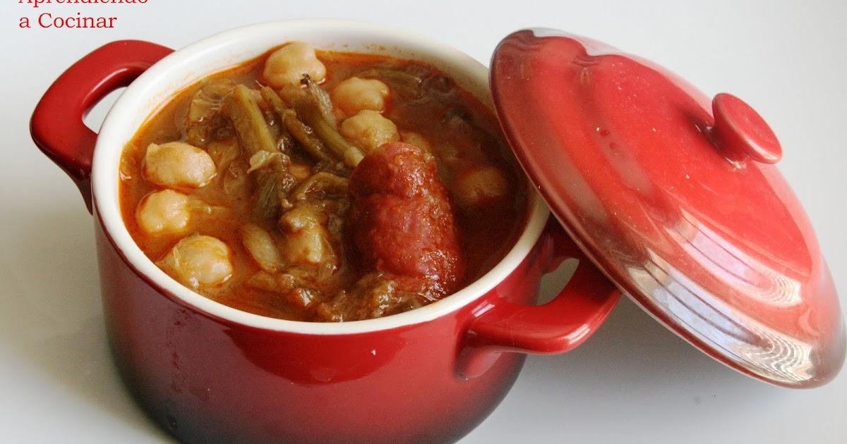 Aprendiendo a cocinar garbanzos con tagarninas for Cocinar garbanzos