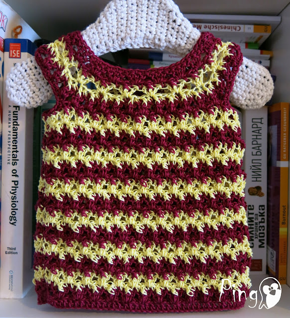 Crochet Summer Top Zoe - crochet pattern by Pingo - The Pink Penguin