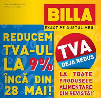 Catalog BILLA Reducem TVA-ul la 9% inca din Mai