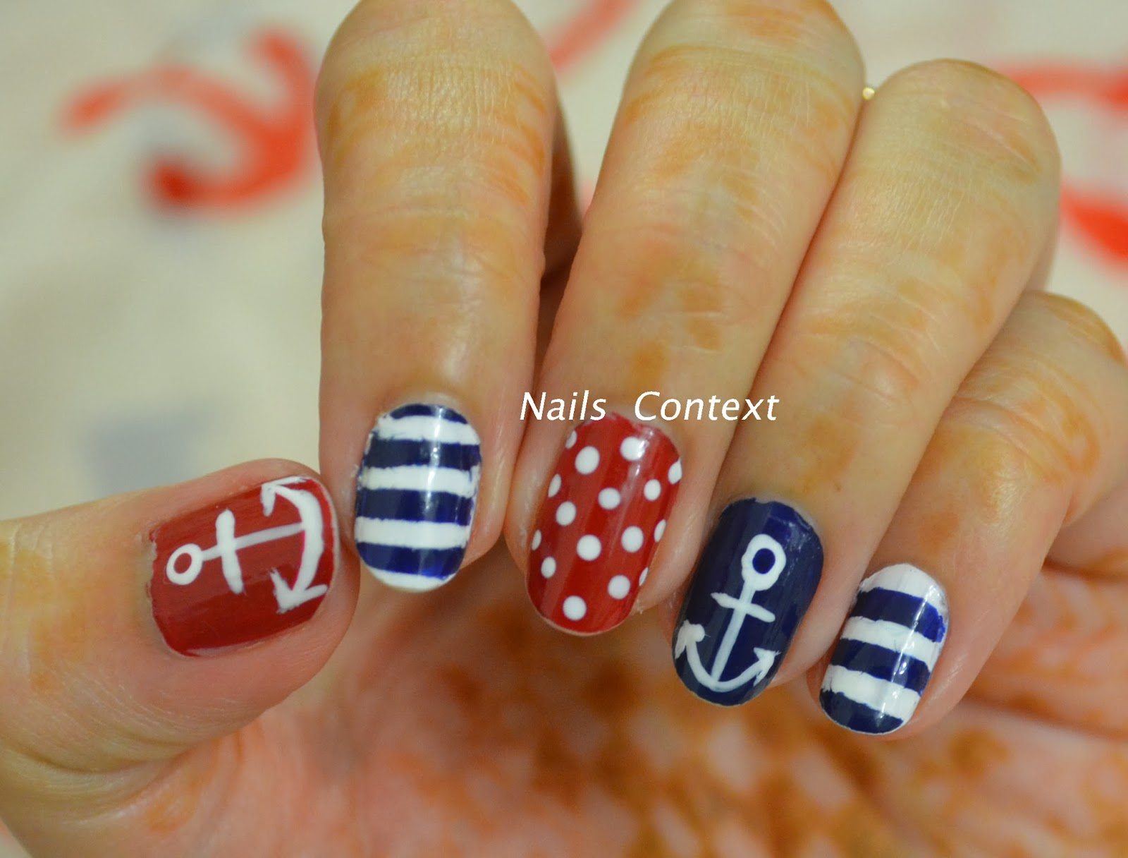 Nails context sailor nails this halloween i decided to dress as a sailor and so instead of doing typical halloween nails i painted my nails suited for a sailor prinsesfo Image collections