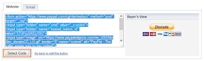 Select Code donasi Paypal
