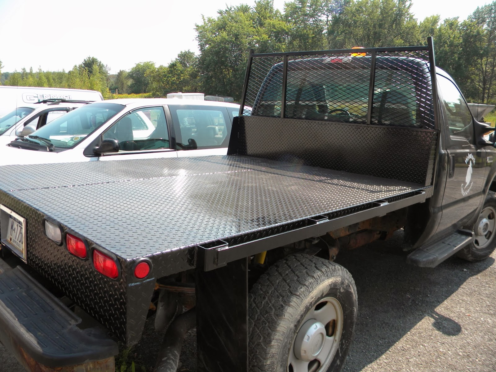 Ford F-350 Flat Bed - HHTB-100 - 8FT Diamond Plated Bed | Heavy ...