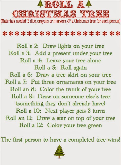 Roll-A-Christmas Tree {Fun Dice Game}