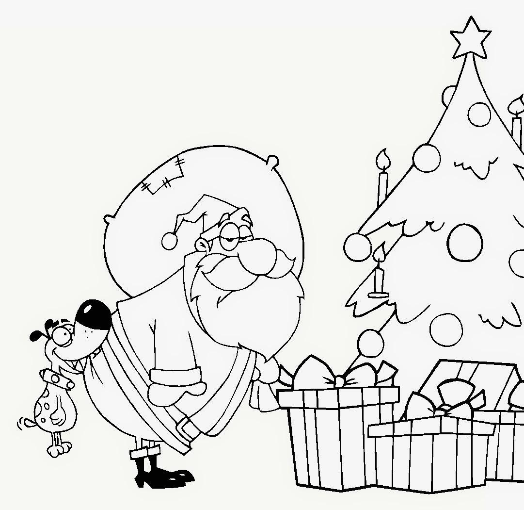 Tarjetas y Postales de Navidad para colorear