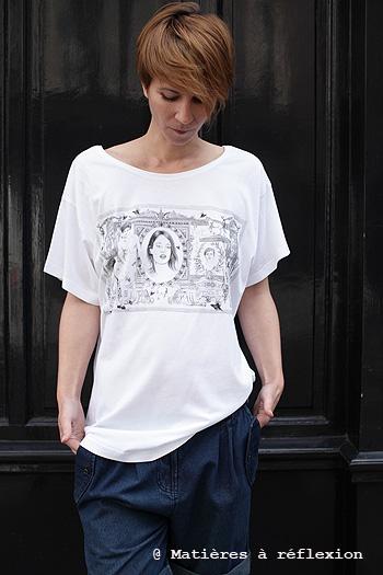 Tshirt imprimé dollar Virginie Garnier
