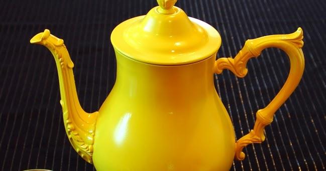 montano tea rrific tea set with krylon fusion spray paint. Black Bedroom Furniture Sets. Home Design Ideas