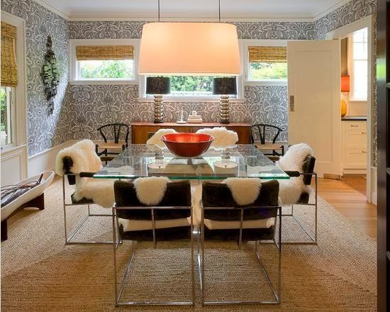 ruang makan meja kaca
