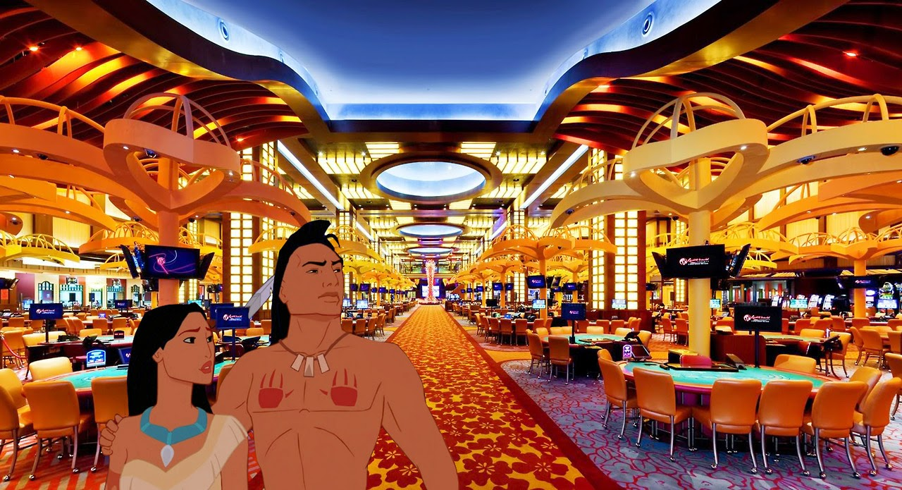 Pocahontas at a Hong Kong cassino