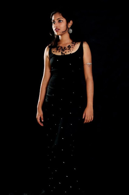 Amala Paul In Black Dress Stills