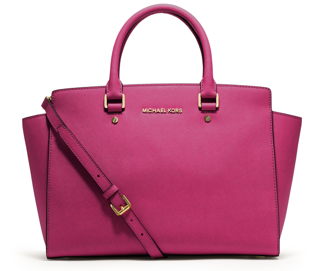 large selma tote bright pink michael michael kors 358. Black Bedroom Furniture Sets. Home Design Ideas