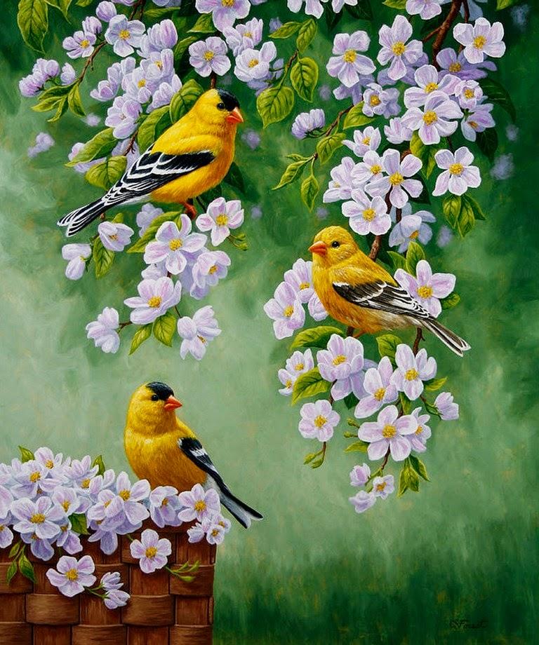 flores-y-aves-pintadas-con-oleo