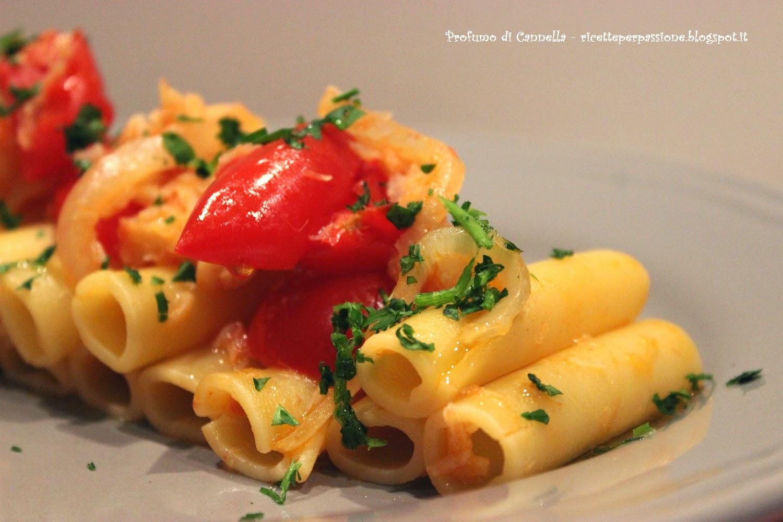 candele con pomodorini, cipolle e baccalà - il mio piatto per il contest terra di fuoco