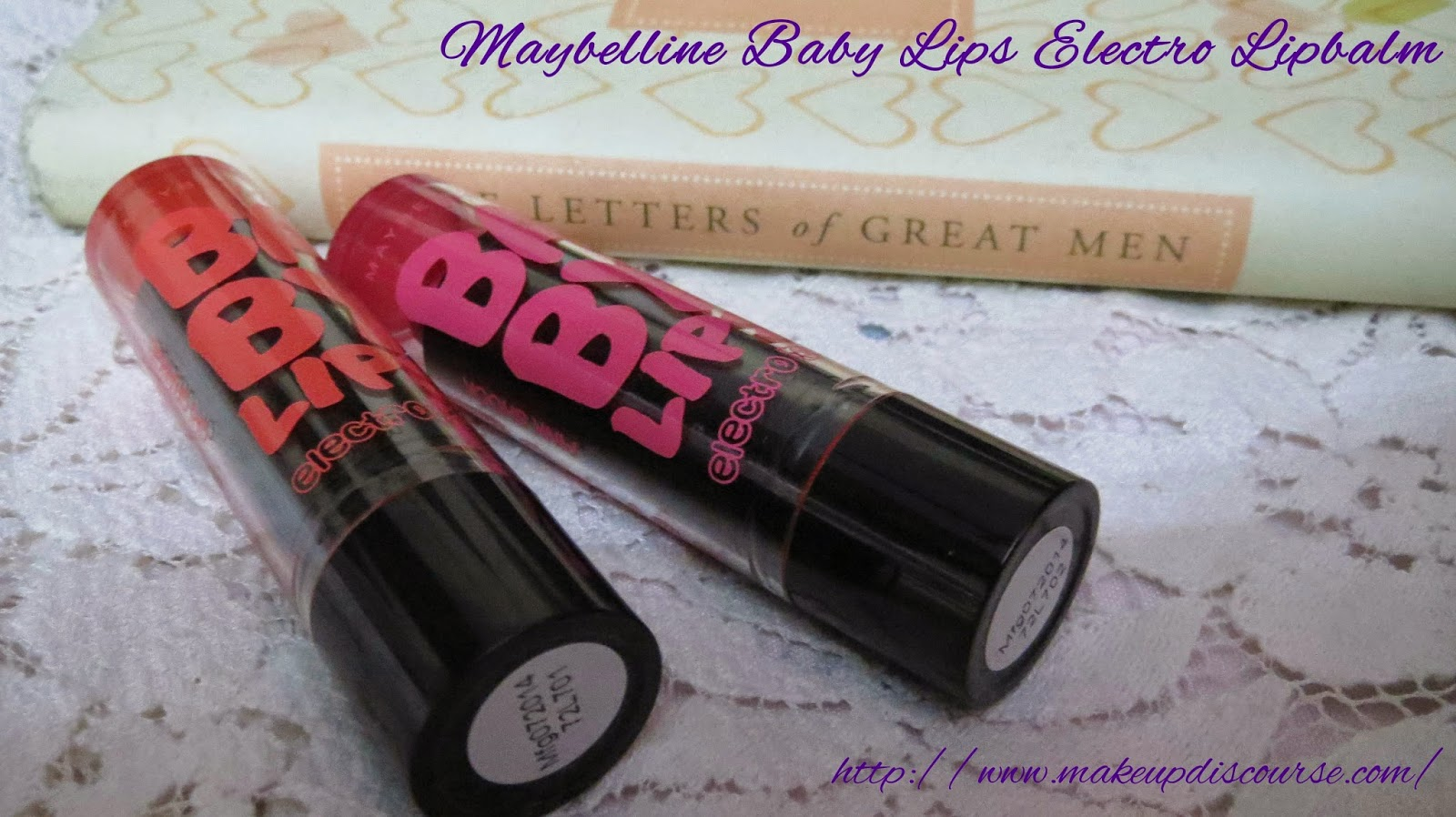 Maybelline Baby Lips Electro Pop in Oh! Orange! and Pink Shock