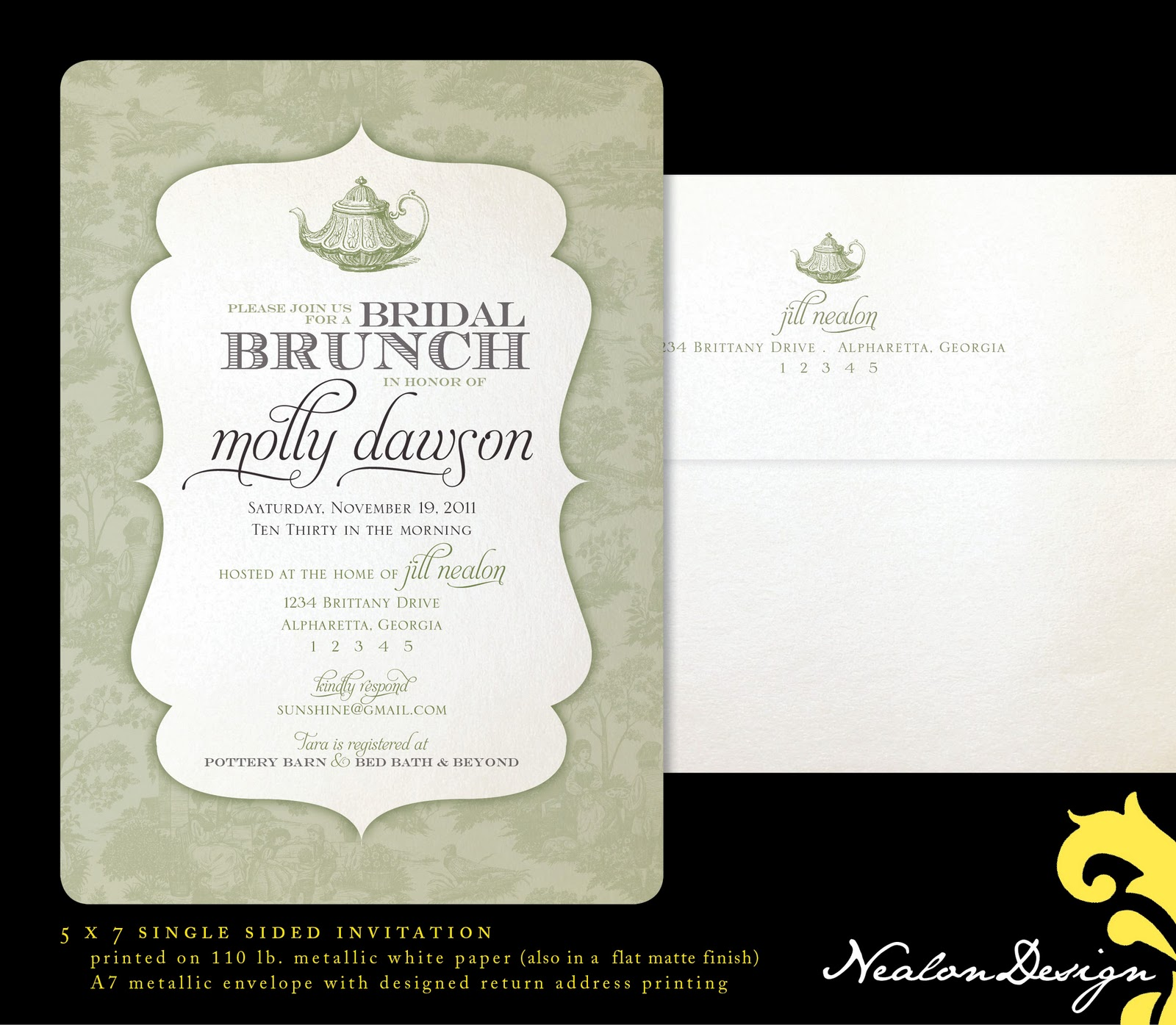 Bridal Brunch Shower Invitations is an amazing ideas you had to choose for invitation design