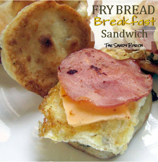 Open-faced Fry Bread Breakfast Sandwich