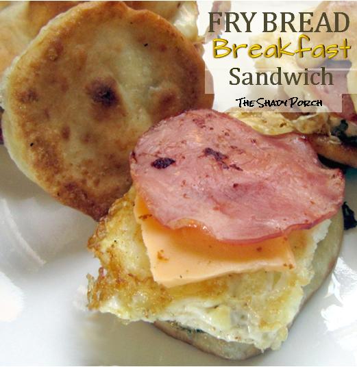 Open-faced Fry Bread Breakfast Sandwich