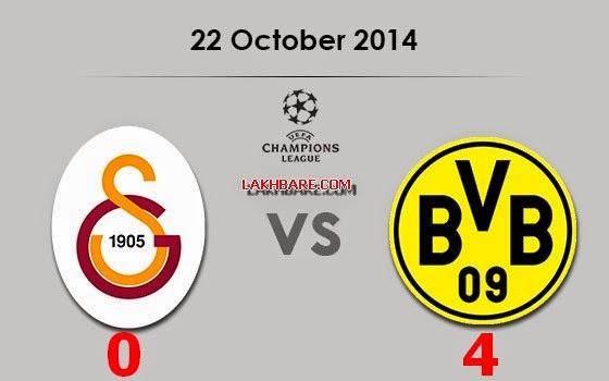 Galatasaray 0 VS 4 Borussia Dortmundاهداف مباراة بروسيا دورتموند وجالطة سراي دوري عصبة أبطال اوروبا