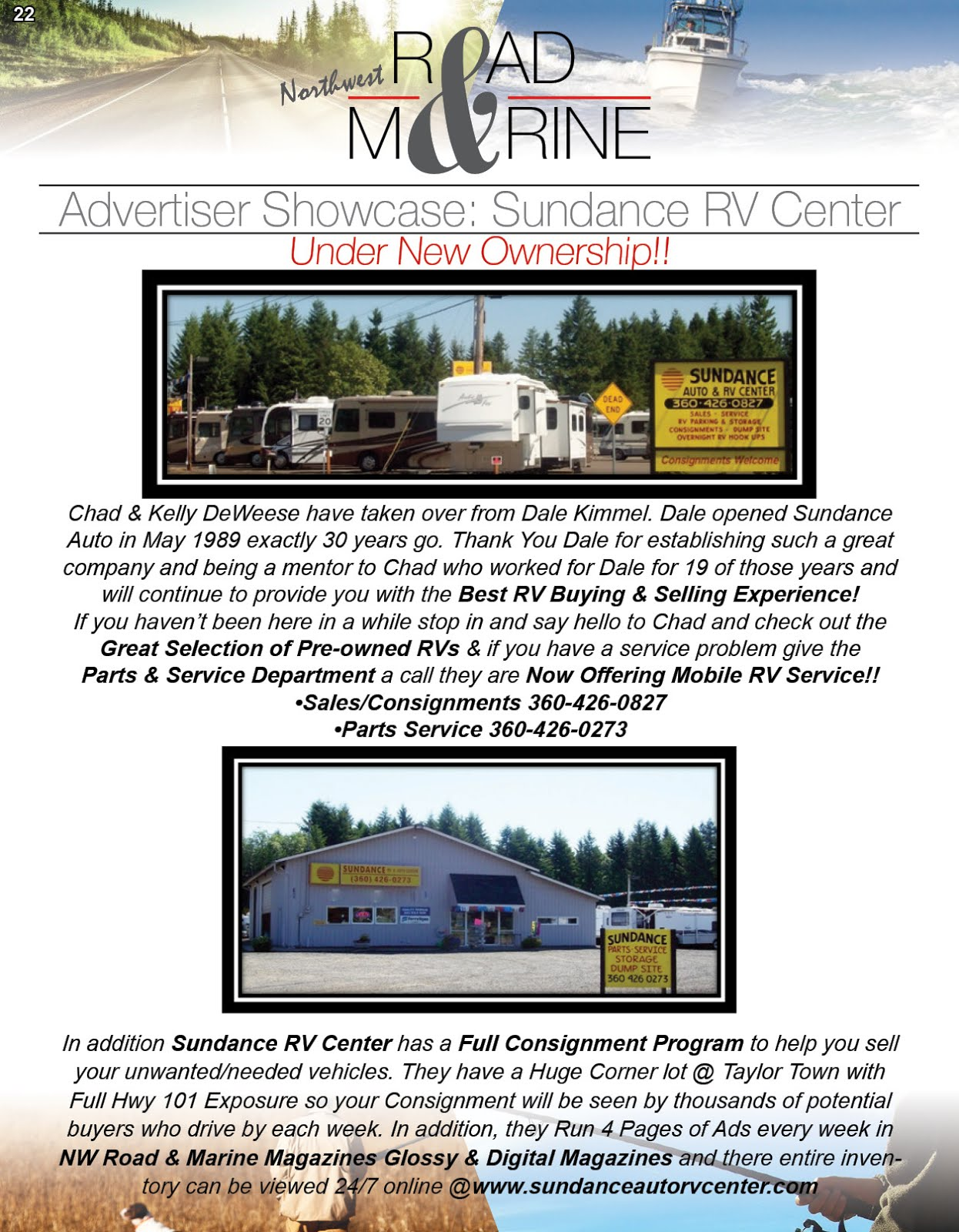 NW Road & Marine Advertiser Showcase: Sundance RV Center
