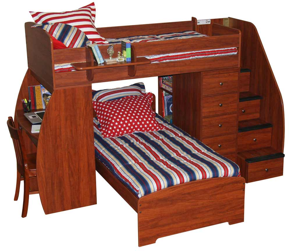 Bunk Beds with Stairs and Desk Plans 1000 x 864