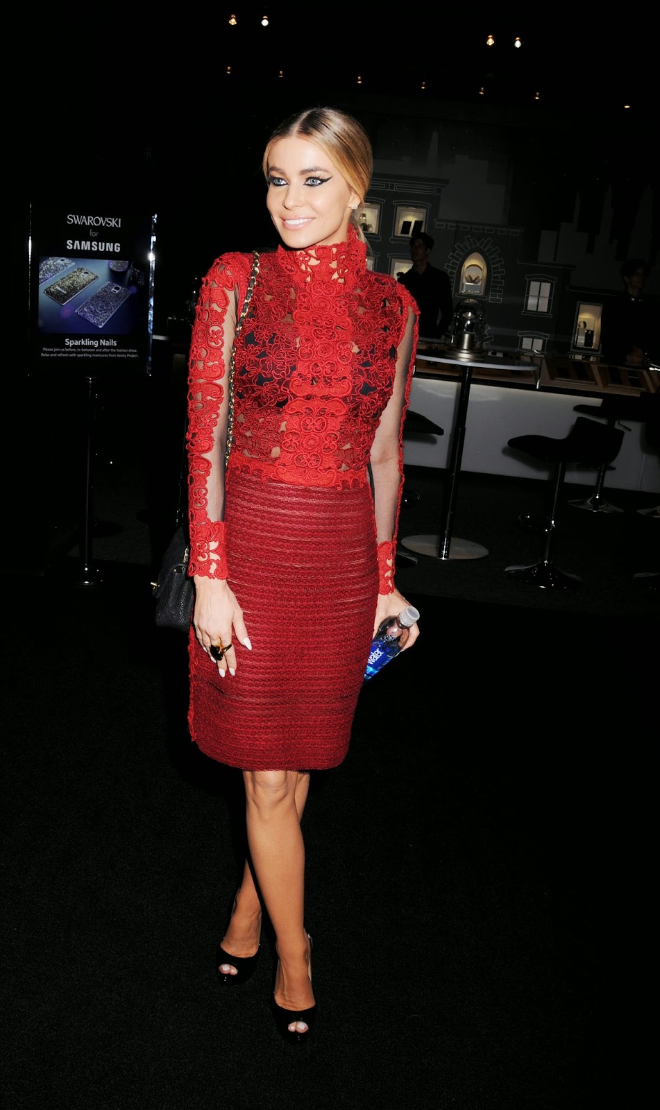 Carmen Electra red dress at Vivienne Tam Fashion Show  pic 1