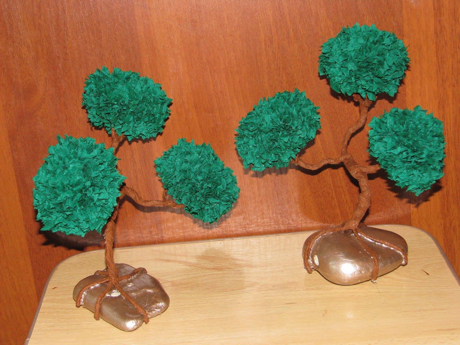 Деревья своими руками фото из гофрированной бумаги