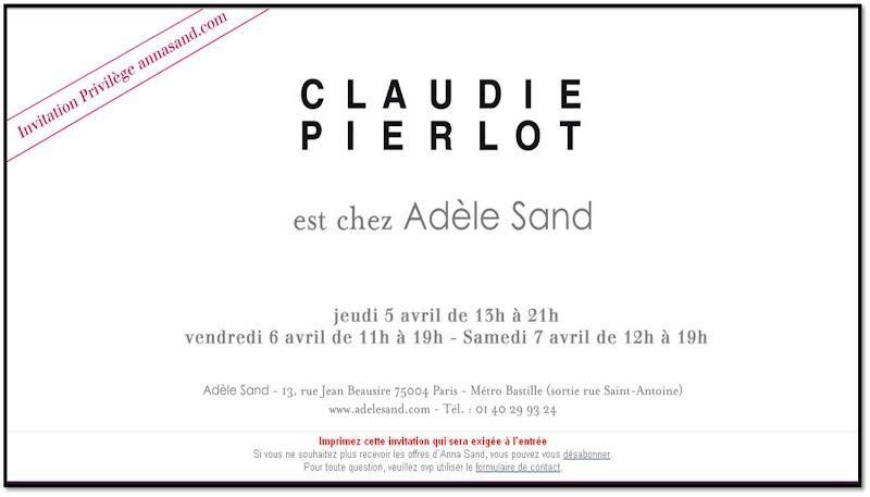 Vente privée Claudie Pierlot vente presse