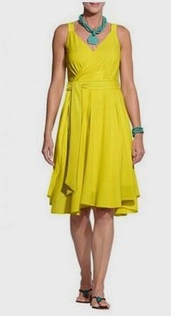 Платье цвета лимона Apart