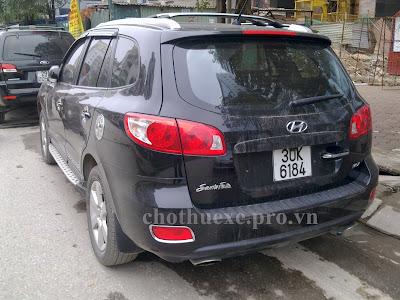 Cho thuê xe 7 chỗ Hyundai Santafe dài hạn
