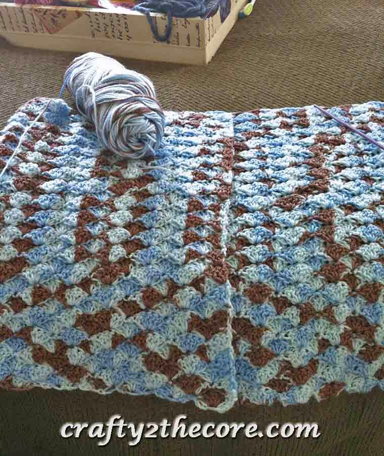 ~Crochet Shell Blanket~FREE PATTERN