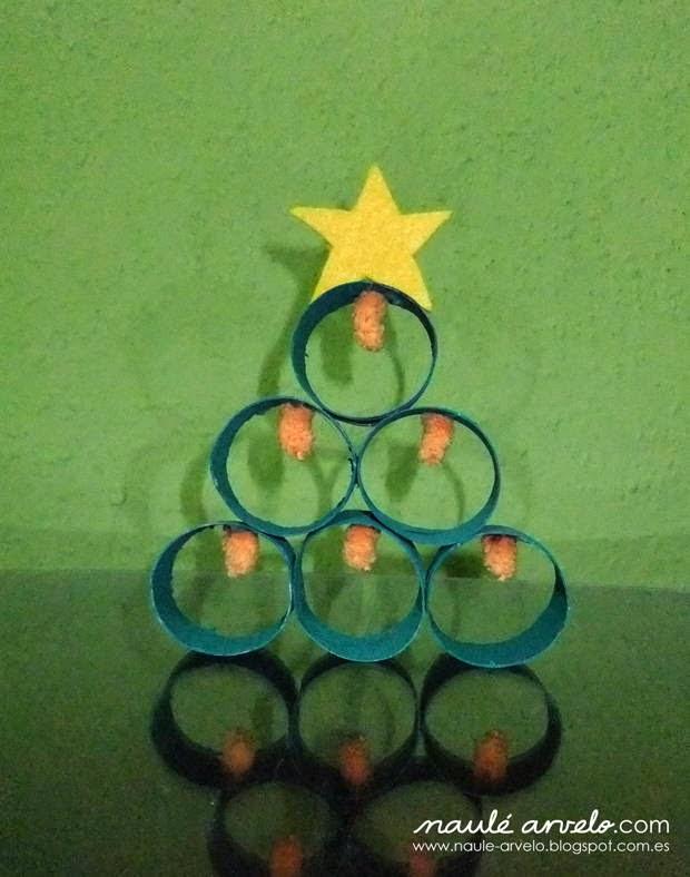 Recicla inventa c mo hacer un rbol de navidad con rollos - Como se adorna un arbol de navidad ...