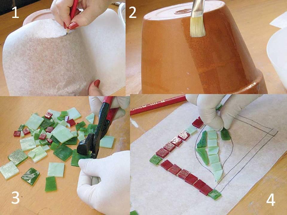 Macetohuerto paso a paso decoracion de macetas con ceramica - Decoracion de macetas de plastico ...