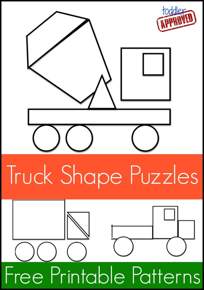 Toddler Approved Mom Project Truck Shape Pattern Puzzles