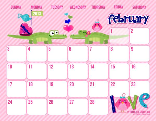 Qt Weekly Calendar : Calendario del mes de febrero imagui