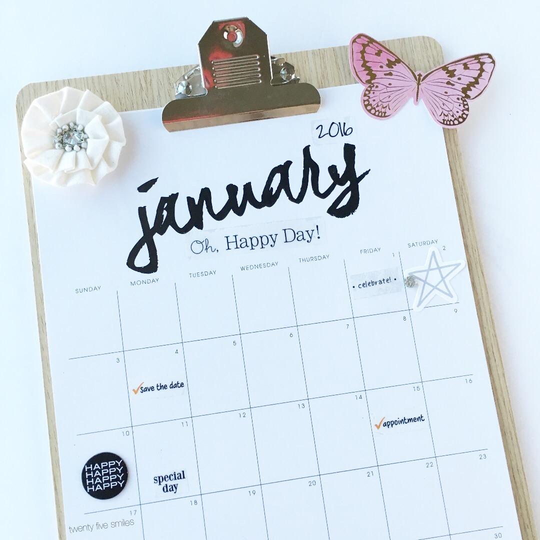 Calendar Planner Target : Crafty calendar clipboard twenty five smiles