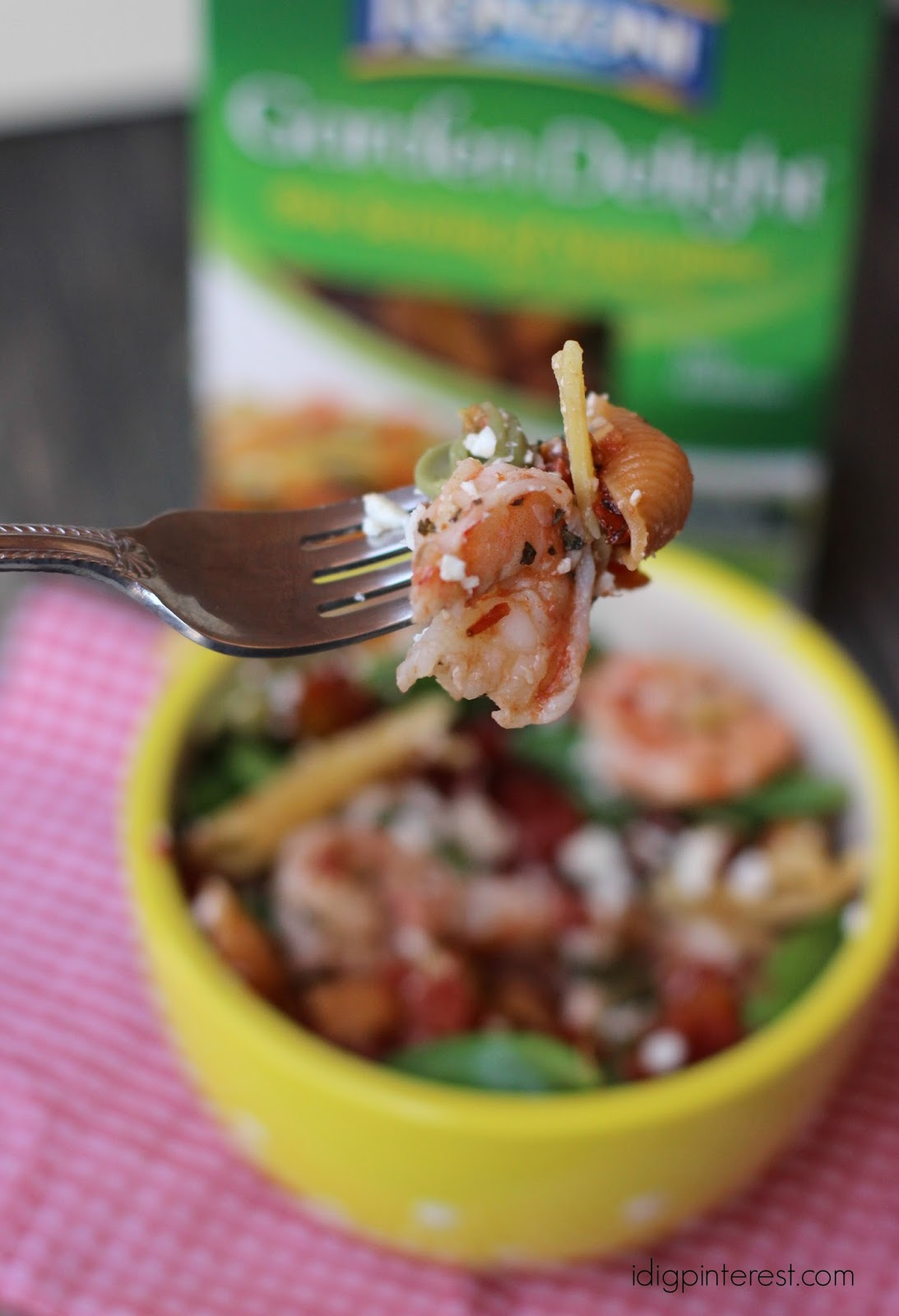 Shrimp and Feta Fire-Roasted Tomato Pasta - I Dig Pinterest