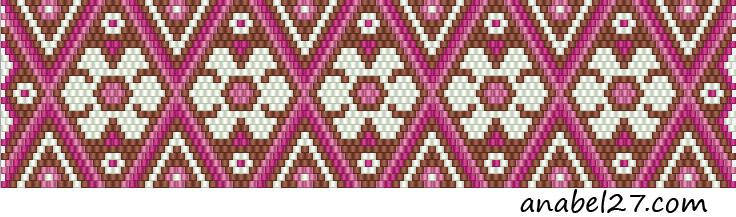 схемы мозаичное плетение браслет мозаика кирпичное peyote pattern цветы