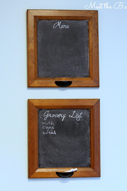 Upcycled Cabinet Door Chalkboards