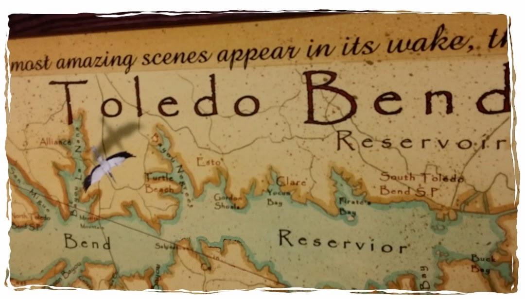 Baitrageous toledo bend lake for Toledo bend fishing map