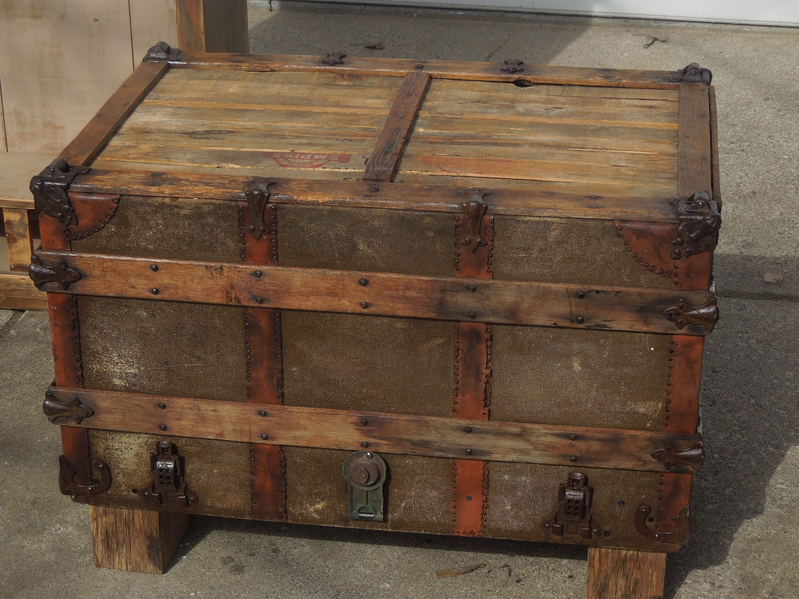 Tattered Lantern Old Trunk Coffee Table Sold